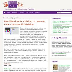 Best Websites for Children to Learn to Code - Summer 2015 Edition