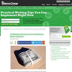 110 Websites that Pay You to Contribute an Article, Instantly