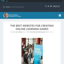 The Best Websites For Creating Online Learning Games