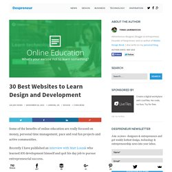 30 Best Websites to Learn Design and Development