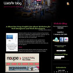 » A Short but Very Useful List about Websites for Web Designers and Web Developers WebAir Blog