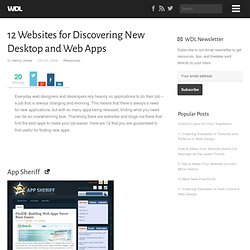 12 Websites for Discovering New Desktop and Web Apps
