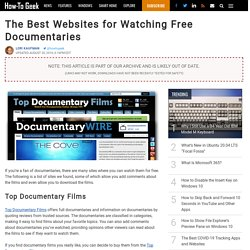 The Best Websites for Watching Free Documentaries