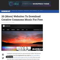 20 (More) Websites To Download Creative Commons Music For Free