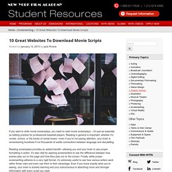 10 Great Websites To Download Movie Scripts