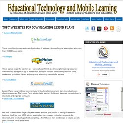 Top 7 Websites for Downloading Lesson Plans