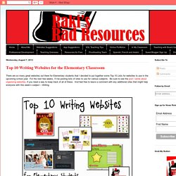 Top 10 Writing Websites for the Elementary Classroom