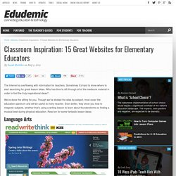 20 Great Websites For Elementary Educators