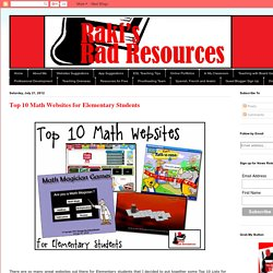 Raki's Rad Resources: Top 10 Math Websites for Elementary Students