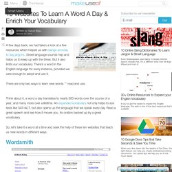10 Websites To Learn A Word A Day & Enrich Your Vocabulary