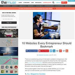 10 Websites Every Entrepreneur Should Bookmark