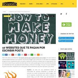 10 websites que te pagan por escribir posts - Social Underground