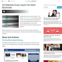 20 Websites Every Apple Fan Must Bookmark
