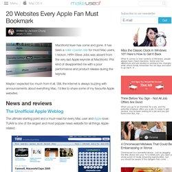 20 Websites Every Apple Fan Must Bookmark | MakeUseOf.com