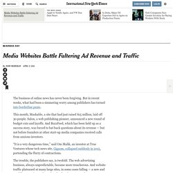 Media Websites Battle Faltering Ad Revenue and Traffic