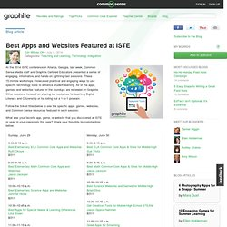 Best Apps and Websites Featured at ISTE