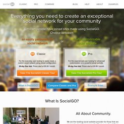 Tour - Learn How To Build a Website & Social Network Community - SocialGO