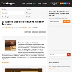 50 Wicked Websites featuring Wooden Textures