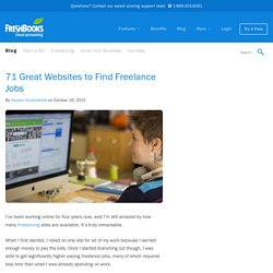 71 Great Websites to Find Freelance Jobs