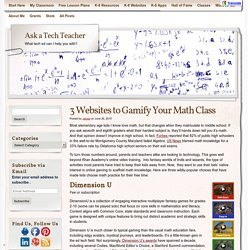 3 Websites to Gamify Your Math Class