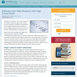 Websites that Help Students with High School Math