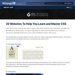 20 Websites To Help You Learn and Master CSS