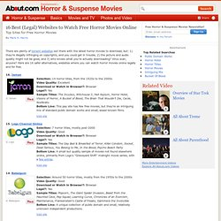 16 Best (Legal) Websites for Free Horror Movies Online - Top Free Online Horror Movie Sites