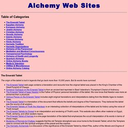 Alchemy Websites: Hundreds of Internet Sites Devoted to Ancient and Modern Alchemy.