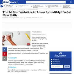 The 26 Best Websites to Learn Incredibly Useful New Skills