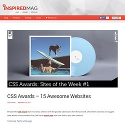 CSS Awards - 15 Awesome Websites