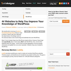 44 Websites to Help You Improve Your Knowledge of WordPress