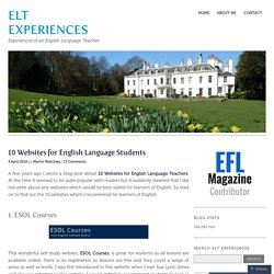 10 Websites for English Language Students