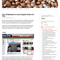 Top 10 Websites to Learn English Online for Free