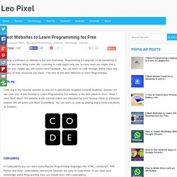 Best Websites to Learn Programming for Free