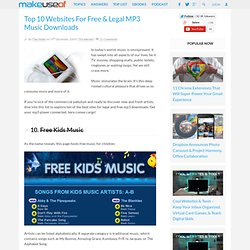 Top 10 Websites For Free & Legal MP3 Music Downloads - Flock