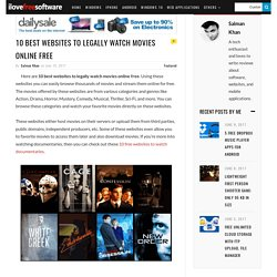 10 Best Websites to Legally Watch Movies Online Free