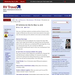 RV websites we like for May 14, 2016 – RV Travel