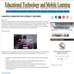 4 Helpful Websites for Literacy Teachers