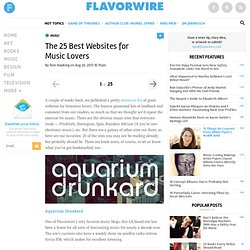 The 25 Best Websites for Music Lovers