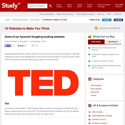 10 Websites To Make You Think | The Online Learning Blog from Study2U