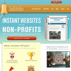 Instant Websites for Nonprofits | Bellstrike