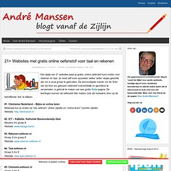 "21+ Websites met gratis online oefenstof voor taal en rekenen « Manssen.nl ~ ""It's all in the Cloud!"""
