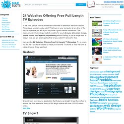 24 Websites Offering Free Full Length TV Episodes