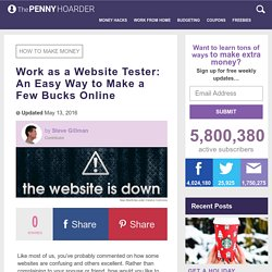 Test Websites for a PayCheck: An Easy Way to Make a Few Bucks Online