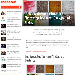 # 7 Best Websites to Find Free Photoshop Textures, Background Styles