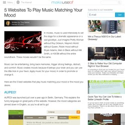 5 Websites To Play Music Matching Your Mood