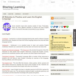 20 Websites to Practice and Learn the English Language