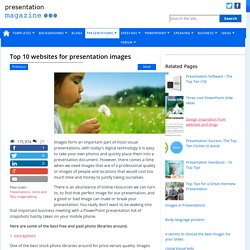 Top 10 websites for presentation images