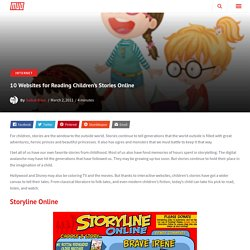 10 Websites for Reading Children's Stories Online