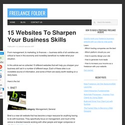 15 Websites To Sharpen Your Business Skills
